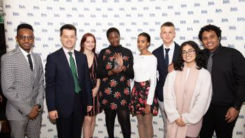 young people with James Brokenshire MP